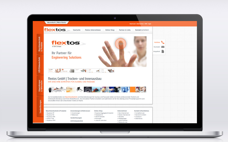 Flextos GmbH - Webdesign
